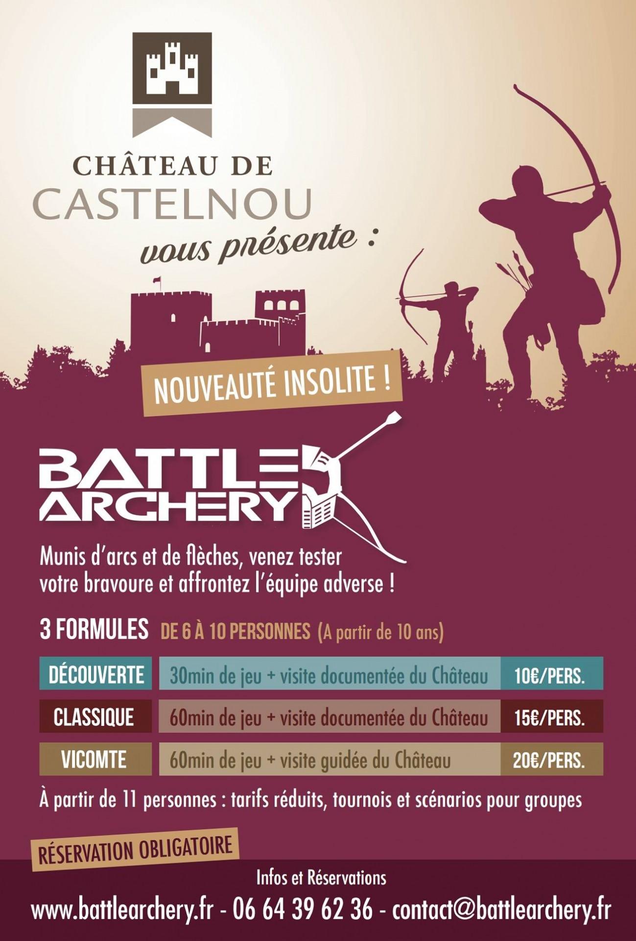 Affiche Battle Archery au Château de Castelnou